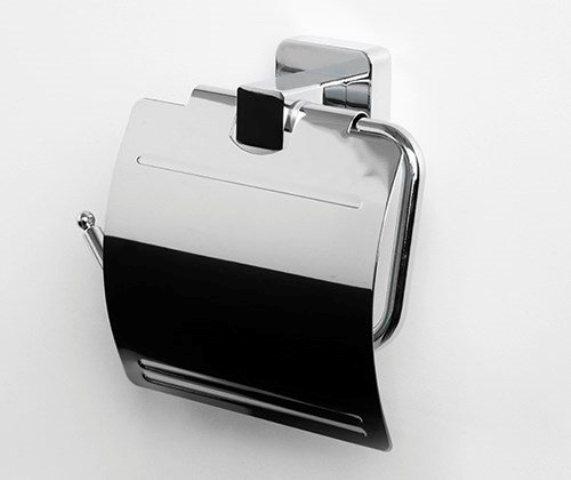 Фото - Держатель туалетной бумаги WasserKRAFT Lippe K-6525 с крышкой металл, хромоникелевое покрытие