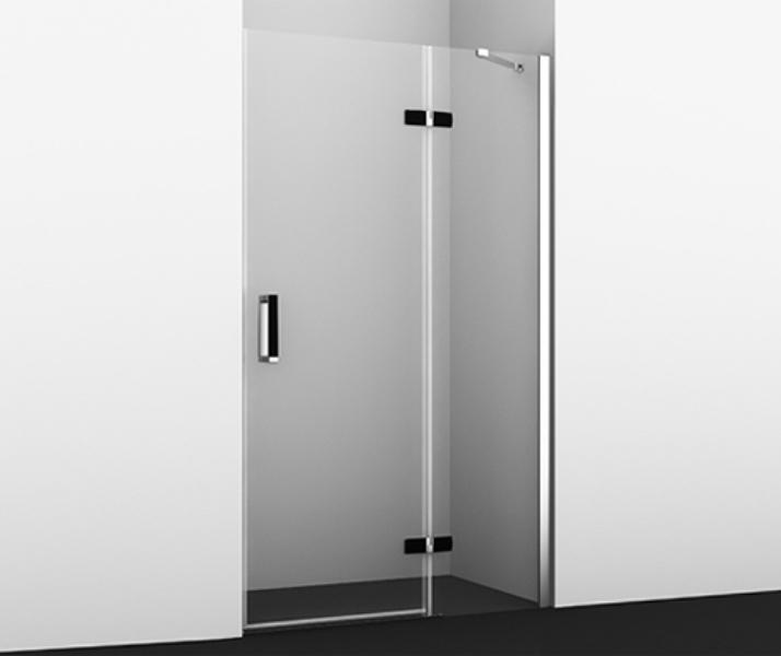 Фото - Душевая дверь WasserKRAFT Aller 10H05R Black MATT, распашная, правая