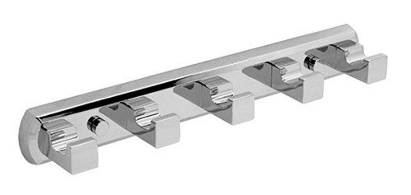Кронштейн настенный WasserKRAFT Lippe K-6575, 5 крючков металл, хромоникелевое покрытие, фото