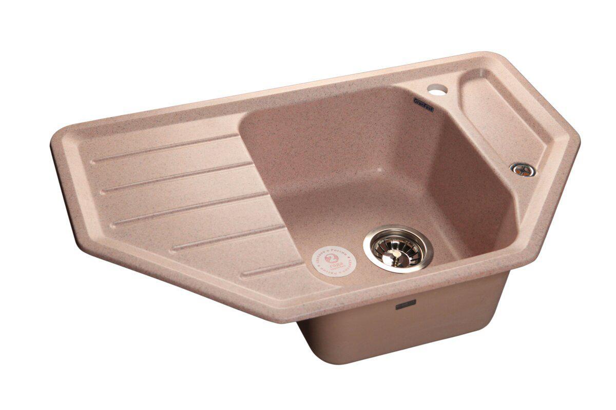 Фото - Кухонная мойка GranFest CORNER GF-C800E угловая 800*500мм розовый