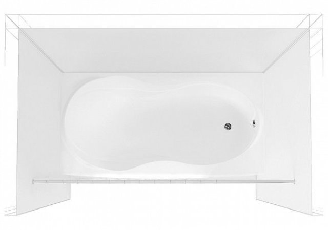 Карниз на ванну Aquanet прямой 170 см (156495), фото