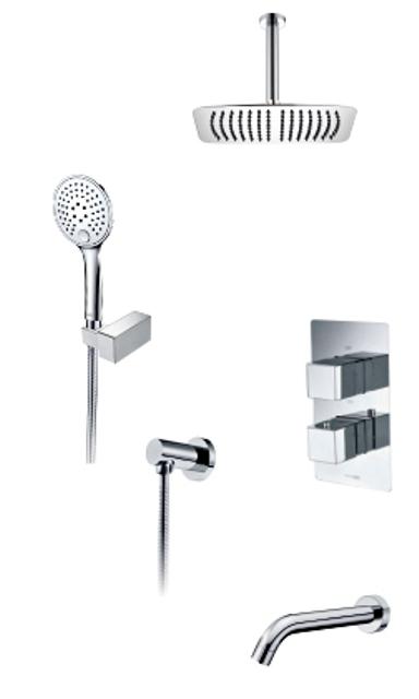 Фото - Встраиваемый комплект WasserKRAFT А171568 Thermo для ванны с верхней душевой насадкой, лейкой и изливом