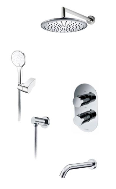 Фото - Встраиваемый комплект WasserKRAFT А174819 Thermo для ванны с верхней душевой насадкой, лейкой и изливом