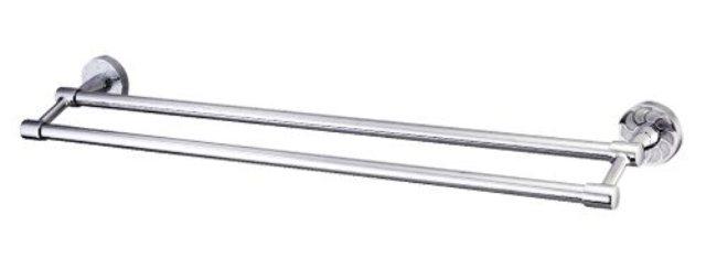 Фото - Штанга для полотенец WasserKRAFT Isen K-4040 двойная металл, хромоникелевое покрытие