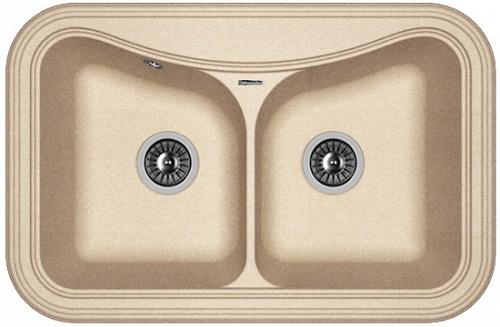 Фото - Кухонная мойка FLORENTINA Крит 780А, песочный FG (20.175.E0780.107)
