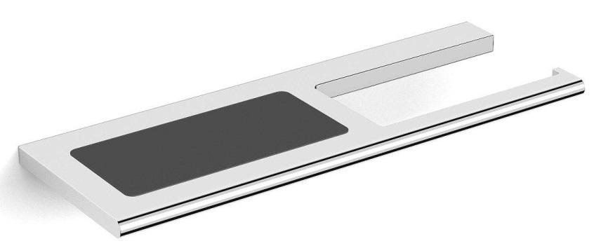 Бумагодержатель Black&White SN-8043 с полочкой для смартфона, фото