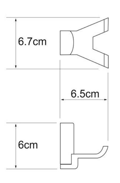Крючок двойной WasserKRAFT Leine K-5023D White, фото