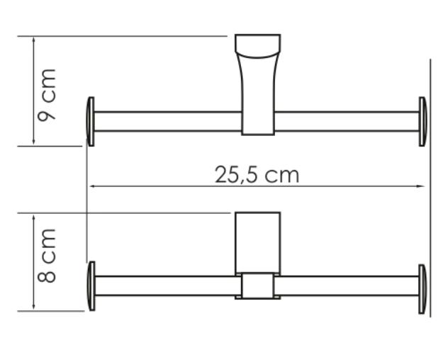 Держатель WasserKRAFT Leine K-5096D туалетной бумаги, двойной, фото