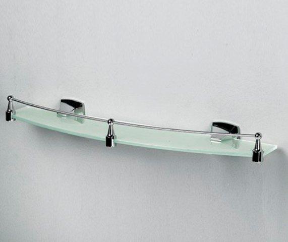 Полка WasserKRAFT Wern K-2544 стеклянная с бортиком, фото