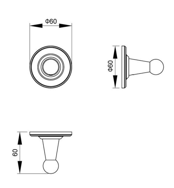 Вешалка Timo Nelson 150011/00 chrome, фото
