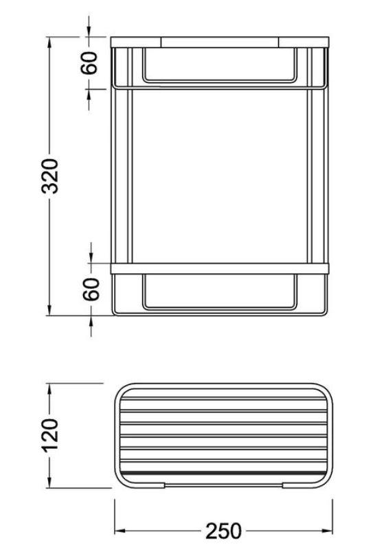 Полка 2-ярусная Timo Nelson 150083/00 chrome, фото