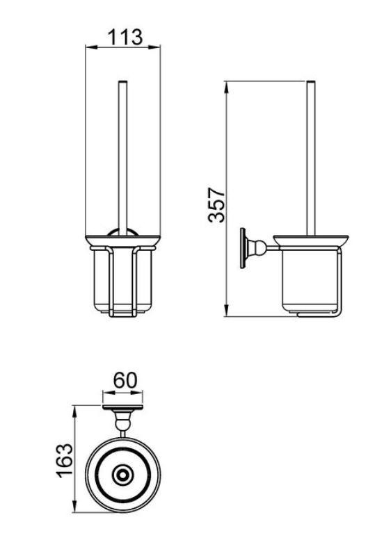 Щетка для туалета Timo Nelson 150061/00 chrome, фото