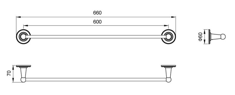 Полотенцедержатель Timo Nelson 160053/02 antique, фото