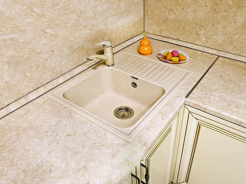 Фото - Кухонная мойка GranFest STANDART GF-S645L чаша с крылом 645*500 мм  светло-розовый