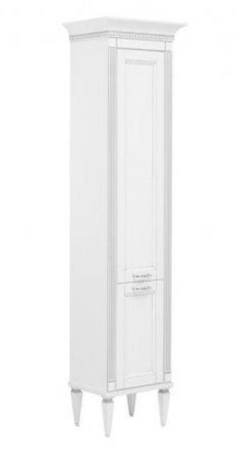 Фото - Пенал Aquanet Селена 40 L бел/патина серебро (201645)