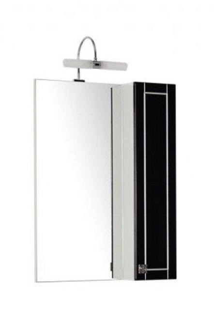Фото - Зеркало Aquanet Честер 60 черный/патина серебро (186089)