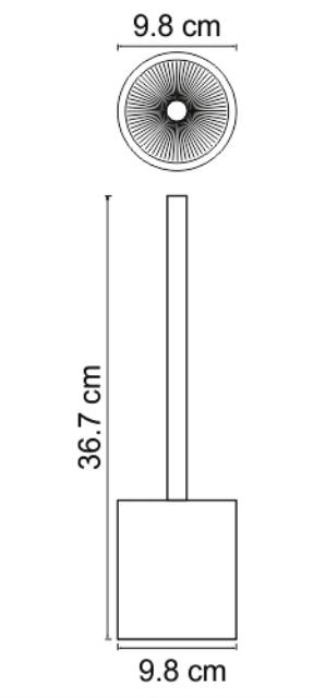 Щетка WasserKRAFT Berkel K-4927 для унитаза, фото