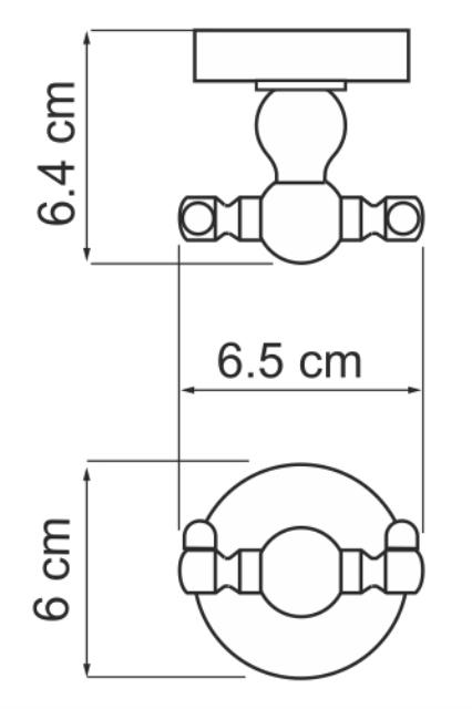 Крючок WasserKRAFT Diemel K-2223D двойной, фото