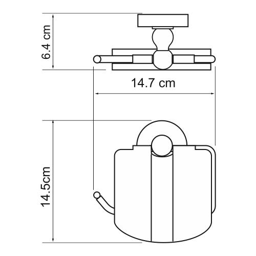 Держатель WasserKRAFT Diemel K-2225 туалетной бумаги с крышкой, фото