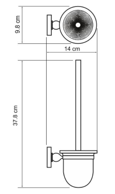 Щетка WasserKRAFT Diemel K-2227 для унитаза подвесная, фото