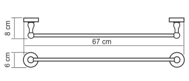 Штанга WasserKRAFT Diemel K-2230 для полотенец, фото