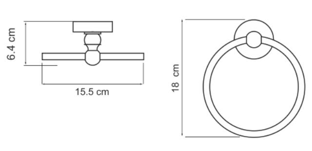 Держатель WasserKRAFT Diemel K-2260 полотенец кольцо, фото