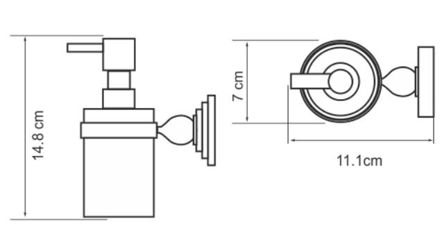 Дозатор WasserKRAFT Diemel K-2299 для жидкого мыла, фото