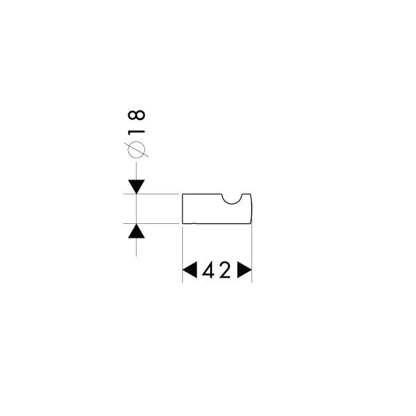 Крючок Hansgrohe 40511000 Logis одинарный, фото