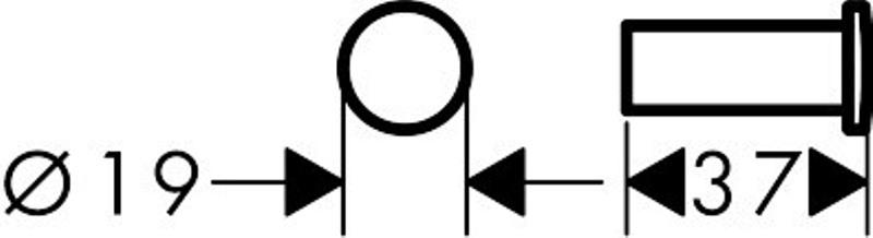 Крючок Hansgrohe 41711000 Logis хром, фото
