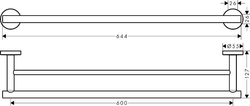 Полотенцедержатель Hansgrohe 41712000 Logis двойной, фото