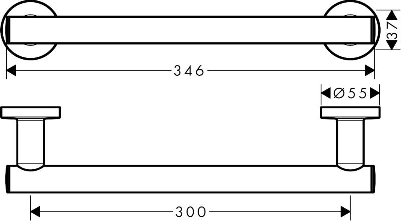 Поручень Hansgrohe 41713000 Logis хром, фото