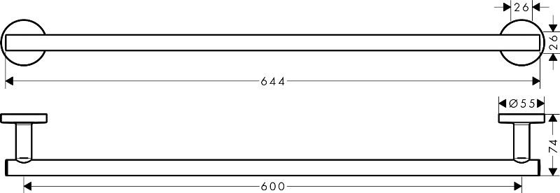 Полотенцедержатель Hansgrohe 41716000 Logis д/ванной, фото