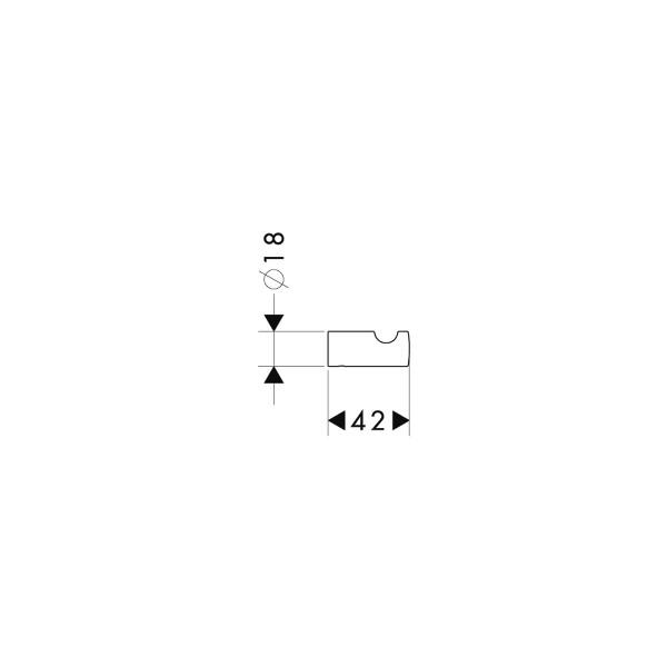 Крючок Hansgrohe 41501000 PuraVida одинарный, фото