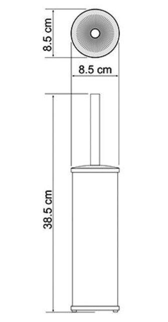 Щетка для унитаза WasserKRAFT K-1027 Black напольная металл, комбинированное покрытие, фото