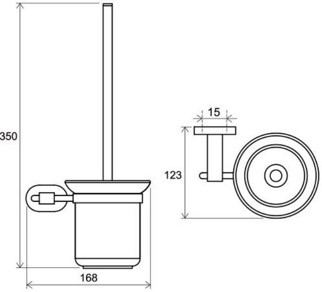 Держатель Ravak CR 410.00 для туалетной щётки (стекло) (X07P196), фото