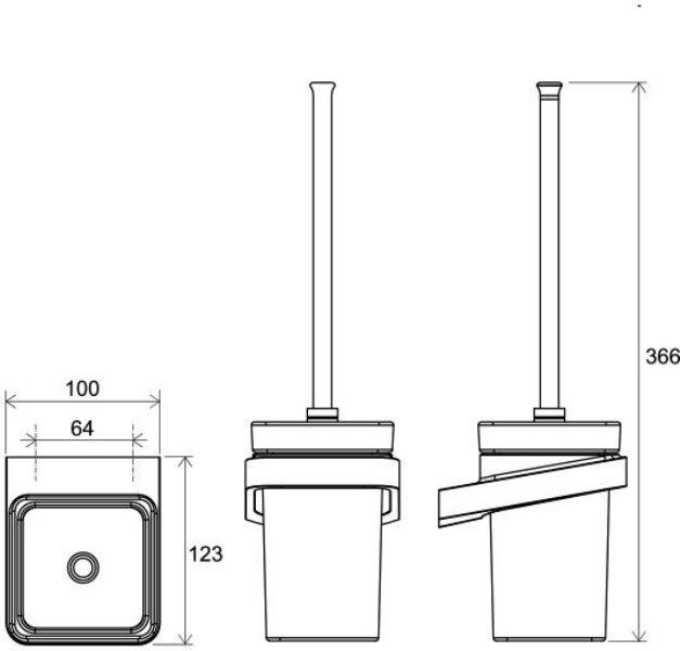 Держатель Ravak TD 410.00 для туалетной щётки (стекло) (X07P330), фото