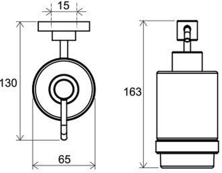 Дозатор Ravak CR 231 для жидкого мыла (стекло) (X07P223), фото