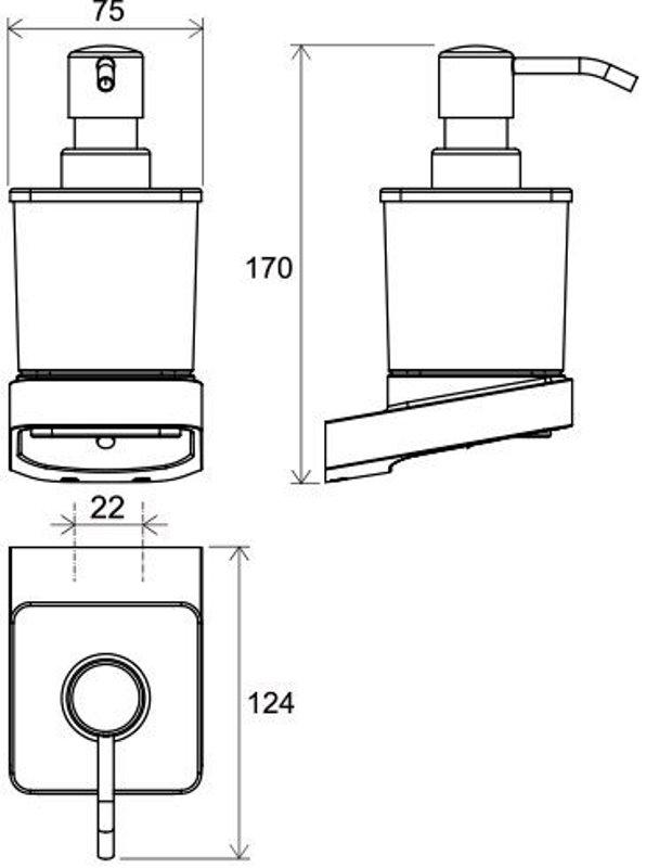 Дозатор Ravak TD 231 для жидкого мыла (стекло) (X07P323), фото