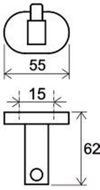 Крючок одинарный Ravak CR 110.00 (X07P320), фото