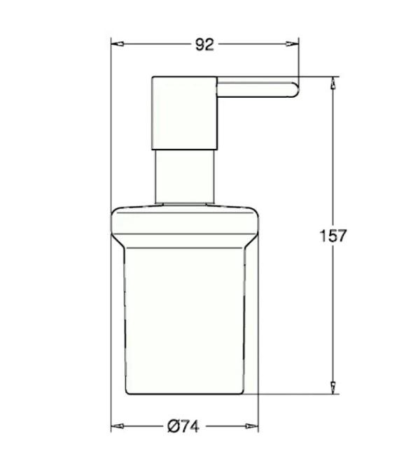 Дозатор Grohe 40394001 Essentials жидкого мыла, фото