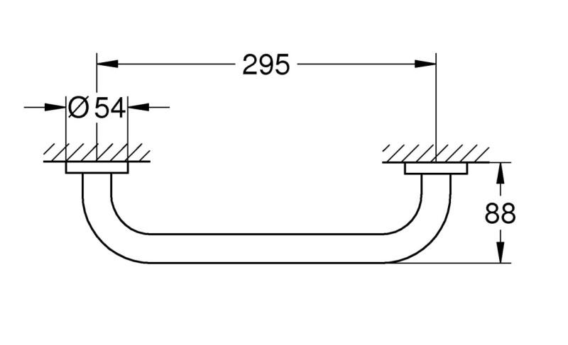 Поручень Grohe 40421001 Essentials для ванной, 300 мм, фото