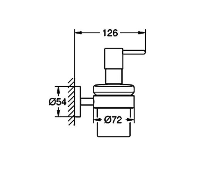 Дозатор Grohe 40448001 Essentials жидкого мыла с держ., фото