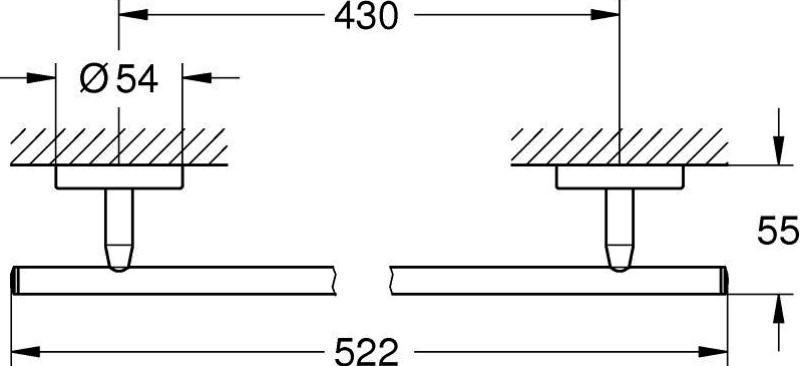 Держатель Grohe 40459001 BauCosmo для полотенца, 520 мм, фото