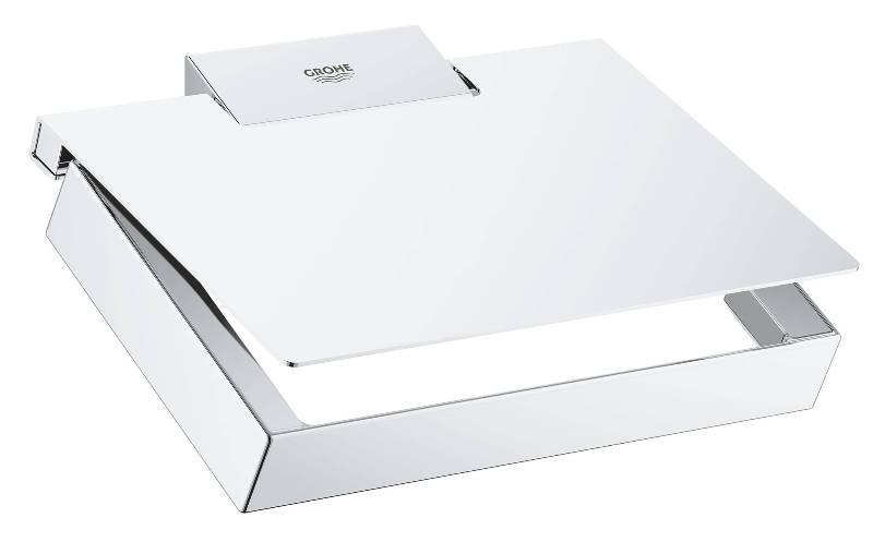Держатель Grohe 40781000 Selection Cube для бумаги с крышкой, фото