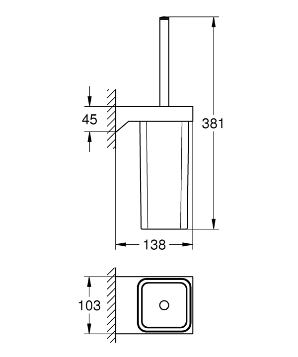 Ёршик Grohe 40857000 Selection Cube туалетный, фото