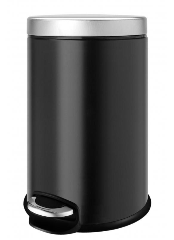 Ведро мусорное WELTWASSER WW ERFIE BL 12L Педальное Черный, фото