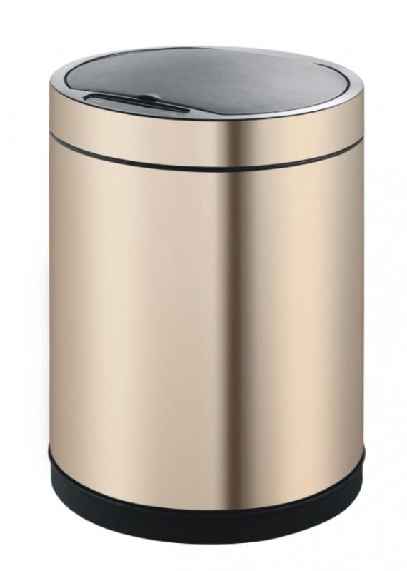 Ведро мусорное WELTWASSER WW MARE CG 12L Сенсорное Шампань Золото, фото
