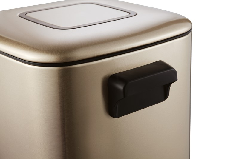 Ведро мусорное WELTWASSER WW MILA CG 9L Педальное Шампань Золото, фото
