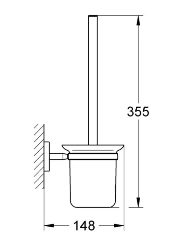 Туалетный ёршик Grohe BauCosmo 40463001, фото