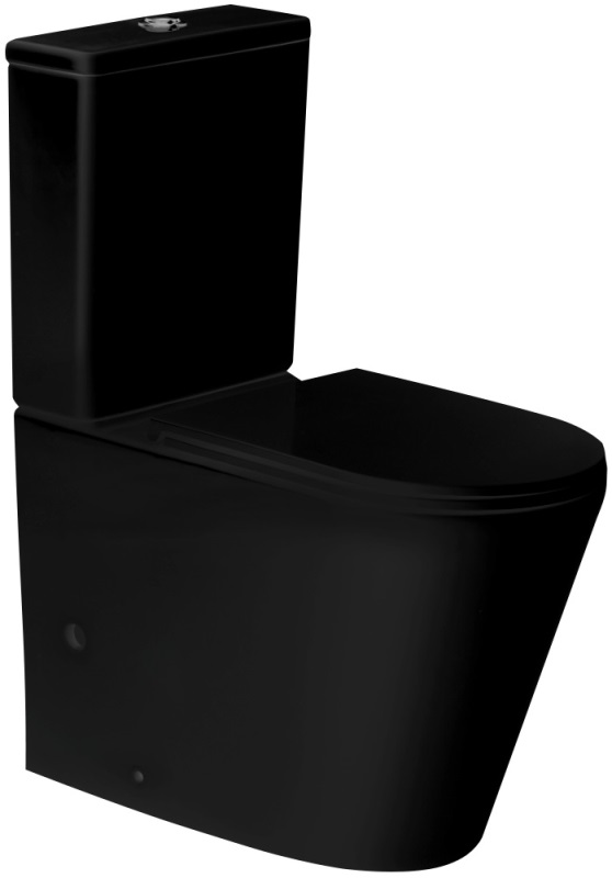 Фото - Унитаз Grossman GR-4449BMS (670*380*850) напольный, чёрный мат., с тонкой крышкой